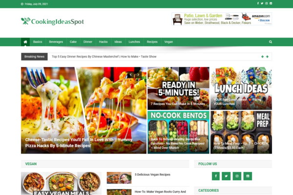 CookingIdeasSpot.com - Fully Automated Cooking Site - Great Profitable - Newbies Friendly - Top Bonuses