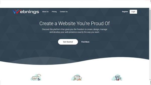 Webnings - Run Your Own HTML and Site Builder Agency,100% Auto, Saas Application. Earn money with a built-in premium subscription system. Create different plans. Low BIN