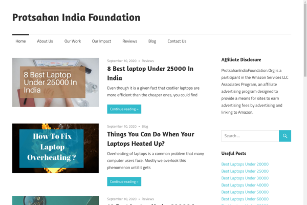 ProtsahanIndiaFoundation.Org - Amazon Affiliate Website With 20000+ Words of Content On SALE!