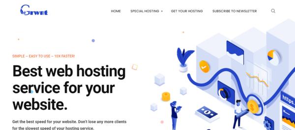 Grwnt.com - Hosting Affiliate Site For Passive Income from Web Hosting Solution