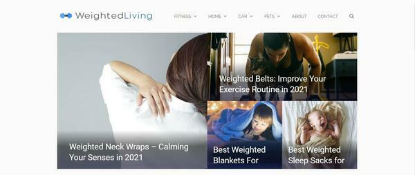 Weighted Living - Established website covering a range of weighted products.