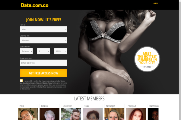 date.com.co - Date.com.co   Beautiful setup to start your own dating website.