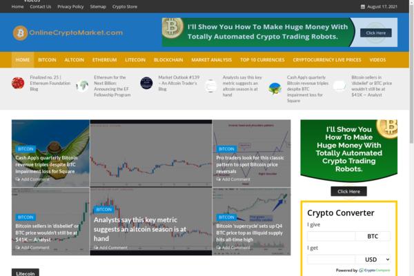 OnlineCryptoMarket.com - 100% Automated Crypto & Bitcoins Site - 2 Years Free Host BIN + Great Bonuses
