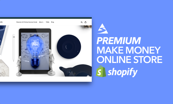 TheOnlineIncomeGuide.com - Password: 1234   Making Money Online Ebook Shopify Store For Sale