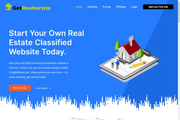 GetRealtorSite.com - Turnkey WaaS Business Providing Real-estate classified website in a minute