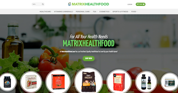 MatrixHealthfood.com - MATRIXHEALTHFOOD.COM Professional Healthfood store 5,000+inventory USA Supplier