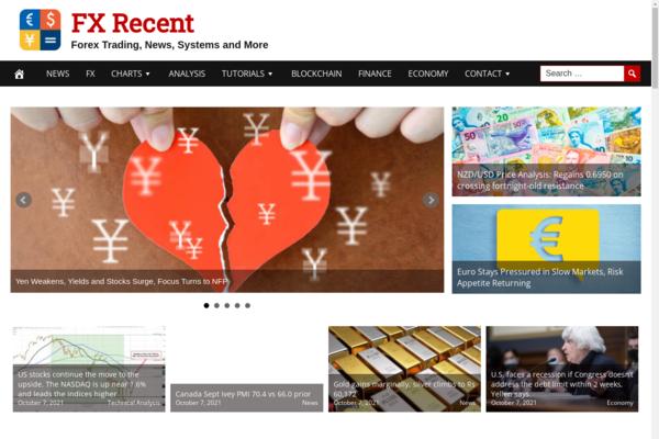 FXRecent.com - Hot Niche Forex Training and News Site, Fully Automated, Hosting Bonus