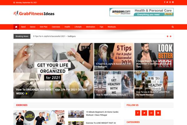 GrabFitnessIdeas.com - 100% Automated Fitness Site - Great Profitable - No Exp. Needed - Huge Bonuses!