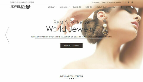 Jewelry Top Shop - Shopify Dropshipping Jewelry Mega shop with 10K ready-to-sell products with 30-150% margins in profit, with valuable 14 y.o. domain name. USA Suppliers!
