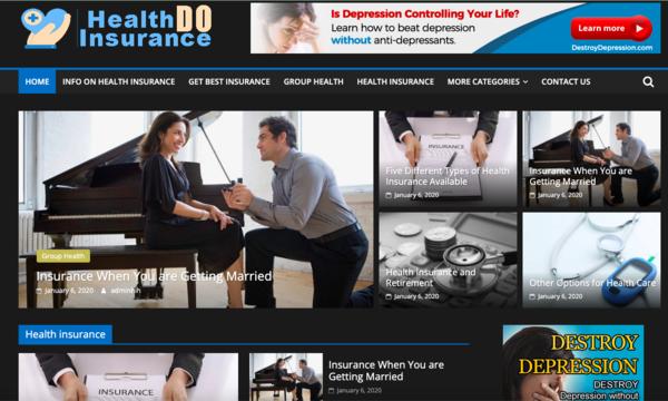 healthinsurancedo.com - Premium 100% done for you Health Insurance Information website