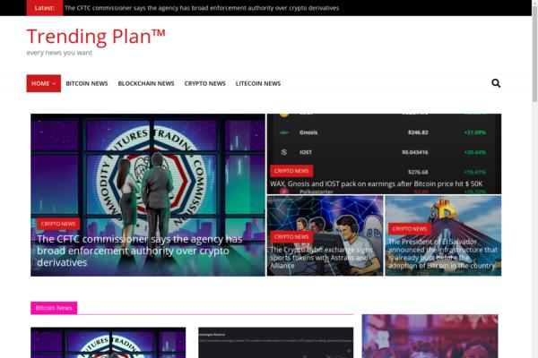 trendingplan.com - United Kingdom Crypto News Magazine Fully Automated Uk Google AdSense Approved
