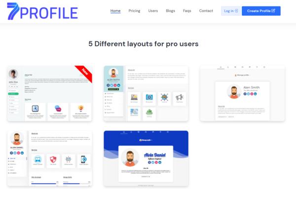 7profile.com - 7profile.com -start your Saas business Multiuser Profile & Resume and vcard Site