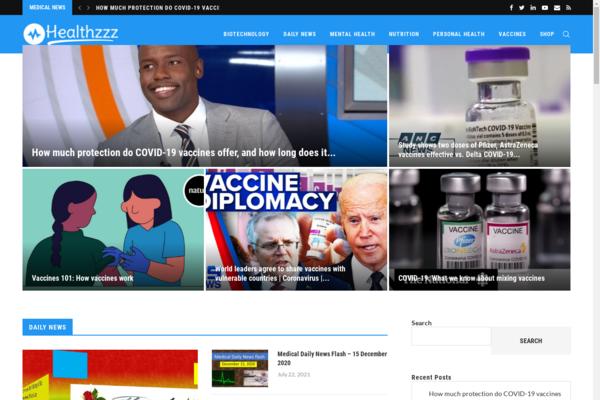 healthzzz.com - Fully automatic video health news site - Shop - Free Hosting & Domain