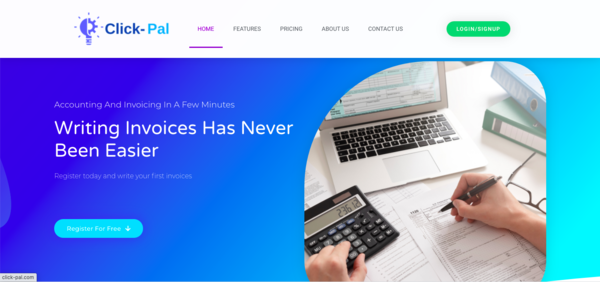 Click-pal.com - PROFITABLES ACCOUNTING AND INVOICE BUSINESS - accounting und Invoice Software - Easy to use- earn over $ 1000 a month. Complete SaaS Business + WP Elementor Pro