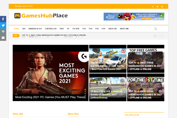 GamesHubPlace.com - Fully Automated Games Website - Most Popular Online Business, Newbie Friendly!