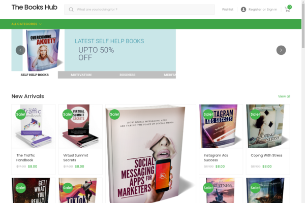 booksfr.com - Newbie Friendly Fully Functional Automated Ebooks store. Make upto $5k Per Month