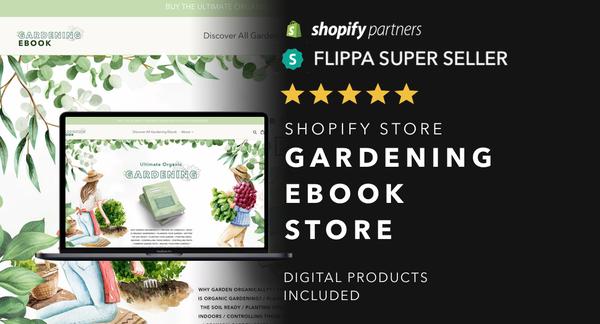 BooksForGardeners.com - Password: 1234 |Gardening Ebooks Shopify Store For Sale