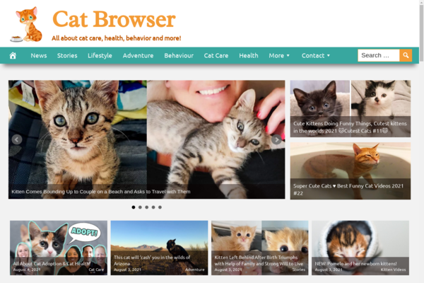 CatBrowser.com - Fully Automated Cat News and Care Site - 1 Year Free Hosting BIN + Great Bonuses