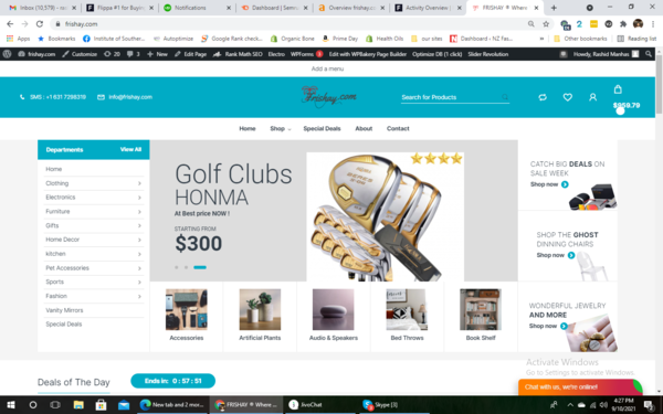 frishay.com - An year old website which makes good enough money is for sale !