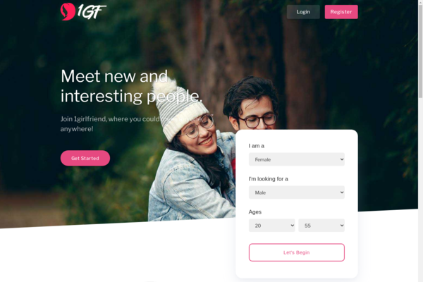 1girlfriend.com - 2 years Old PHP Dating Site with Unique and Premium Domain for Sale