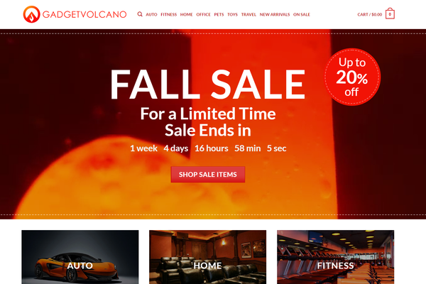 GadgetVolcano.com -  Premium High Tech Gadget Store - $1750 per month + Training + Mentorship (BIN)