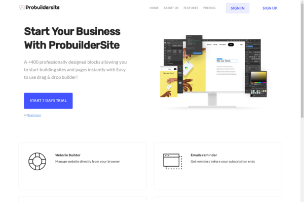 probuildersite.com - Website Builder , SaaS Application , Catchy Domain Name