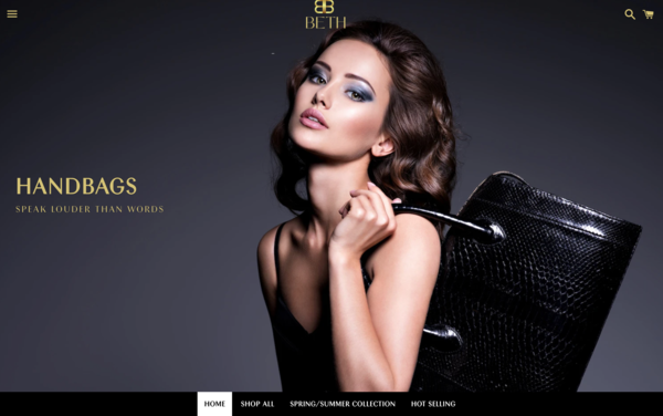 BethBags.com - BethBags.com |NO RESERVE| Dropshipping Fashion Handbags|$1,086  Domain Value
