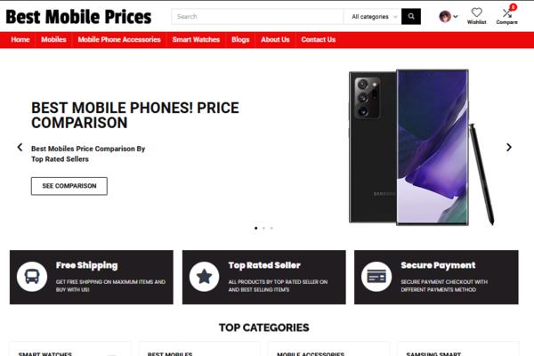 bestmobileprices.net - Affiliate Price Comparison Website On Mobiles Niche