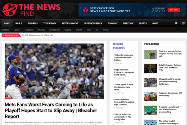 TheNewsFind.com - Fully Automated All News Website + Free Hosting (Bonus) - Earn Upto $5k/Month
