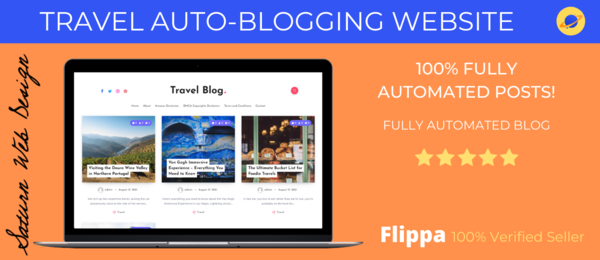 travelblogclub.com - Flippa 100% Verified Seller   100% Automated Blog   Posts On Traveling!
