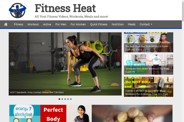 FitnessHeat.com - Fully Automated Fitness News Website. Get 5 Automated Websites worth over $900