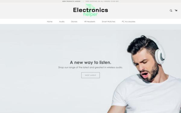 ElectronicsHelper.com - ElectronicsHelper.com | NO RESERVE | Electronics Store| $1,123 Domain Value