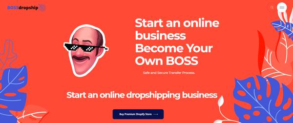 bossdropship.com - Premium Ecommerce & Dropship Agency Sell Websites - Potential Earn up to 5k$/mo