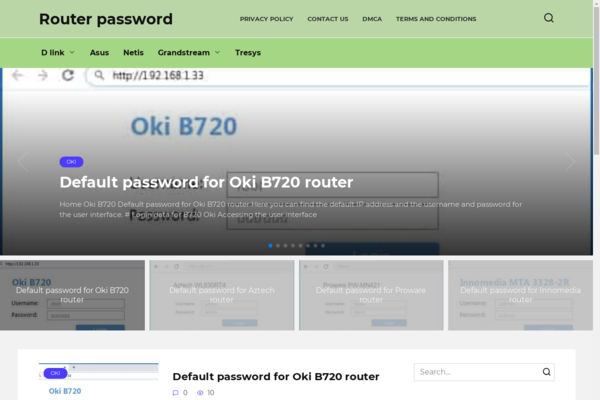 router-password.com - Computer blog, organic traffic from Canada, old site.