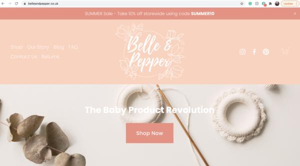 belleandpepper.co.uk - e-Commerce / Home and Garden