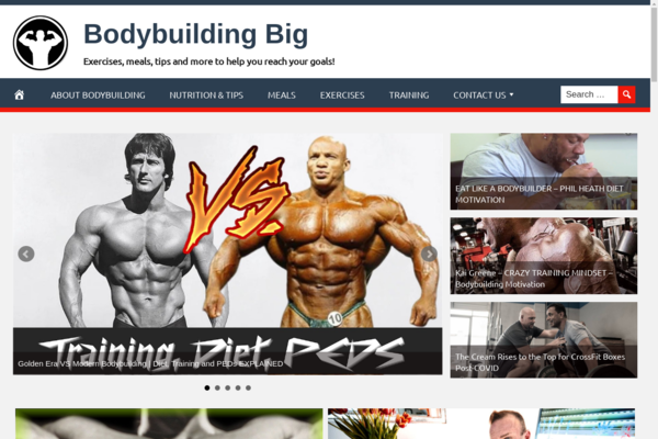 BodybuildingBig.com - Fully Automated Bodybuilding Website. Get 5 Automated Websites worth over $900