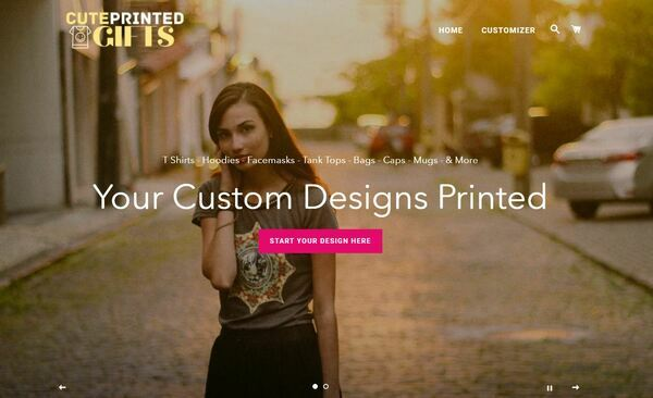 CutePrintedGifts.com - Shopify Dropship On Demand Print Store, Premium Domain wth $912, US/EU suppliers