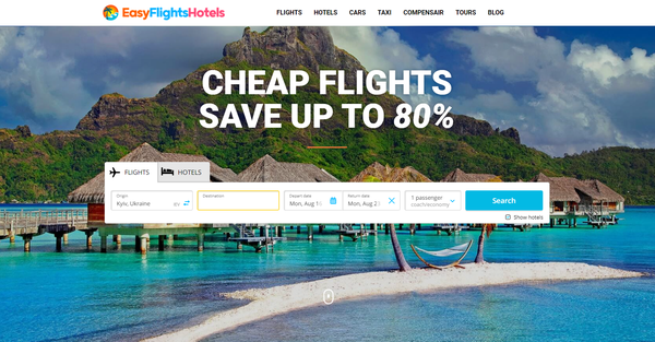 EasyFlightsHotels.com - Automated Travel Site For Passive Income, Earn Up To $10k/mo on Flights, Hotels
