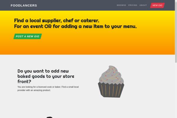foodlancers.com - Find a local food supplier or vendor.