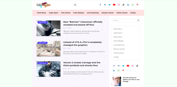 goodgamesnews.com - Fresh website with high potential. easy to approve for google addsense
