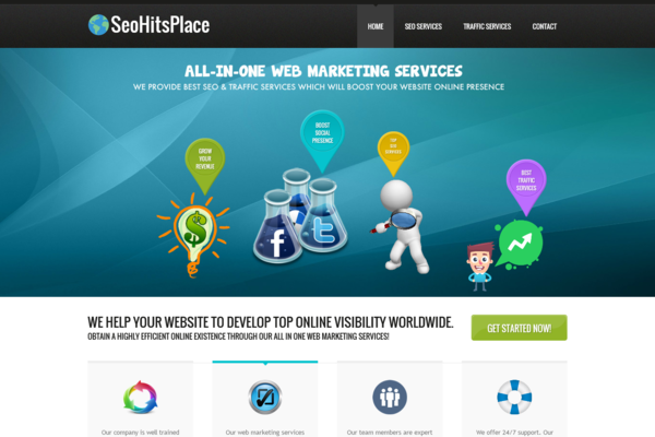 SeoHitsPlace.com - 100% Outsourced SEO & Traffic Service BIZ- Huge Profitable Niche - No Exp Needed