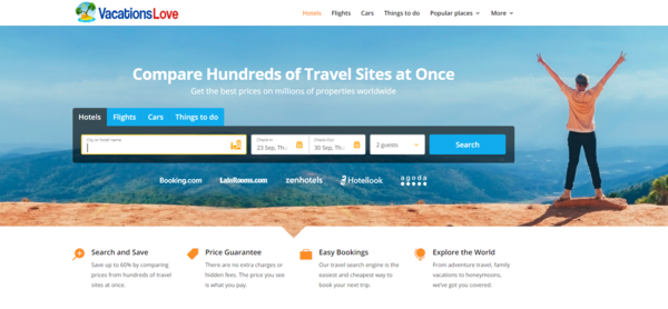 http://vacationslove.com/ - PREMIUM Wordpress Travel Search & Booking Business- Flights, Hotels,Store & More