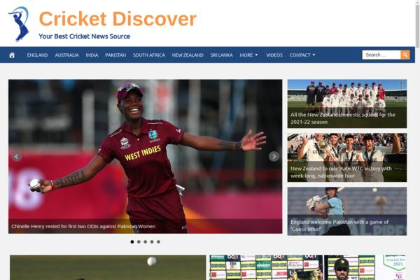 CricketDiscover.com - Premium Design Cricket News Website - Fully Automated -BIN Bonus