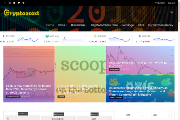 cryptozcast.com - Crypto is Booming - Fully Automated Cryptocurrency News, Price & Marketplace
