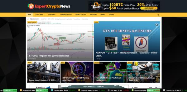 ExpertCryptoNews.com - Autopilot Crypto Bitcoin News Magazine Blog To Make Money Online