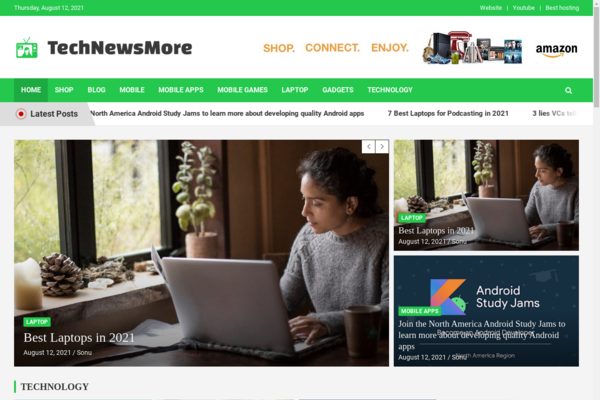 technewsmore.com - Fully Automatic Tech News Website. Estimated Value: $1,262 (USD)