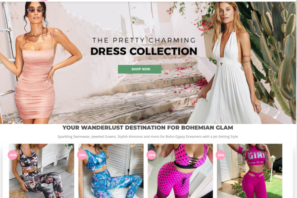 PickParadise.com - Women Clothes Dropshipping Store with Exceptional Growth Potential 2000 Products