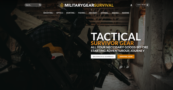 MilitaryGearSurvival.com - MILITARYGEARSURVIVAL.COM Camping/Hunting store 4,400+ inventory USA Supplier