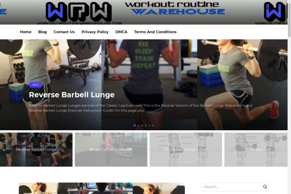 workoutroutinewarehouse.com - The site was made in 2011. Sports, fitness. Organic traffic Google USA.