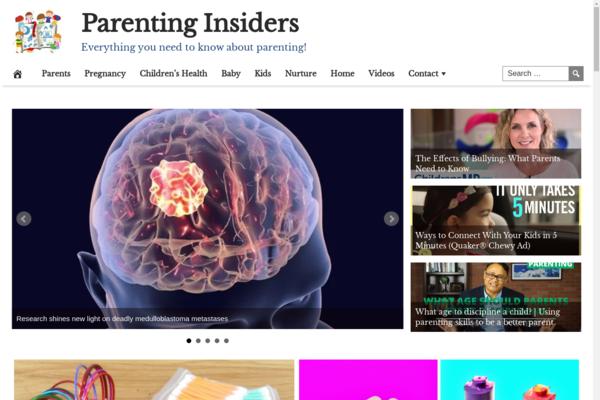 ParentingInsiders.com - Popular Parenting Niche - BIN Bonus - Fully Automated - Premium Design